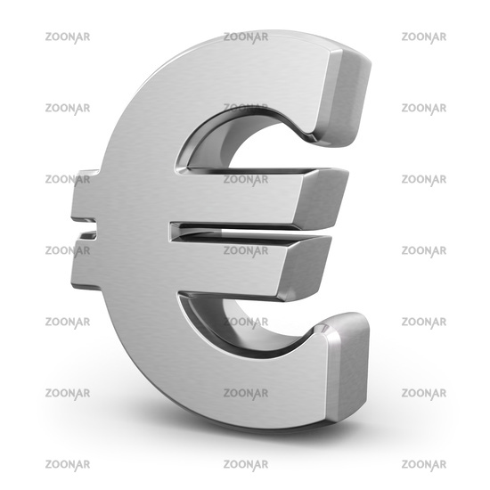 Silver euro currency sign