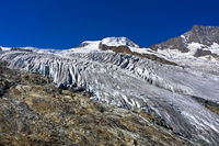 Fee Glacier with Alphubel summit, Saas-Fee, Valais, Switzerland