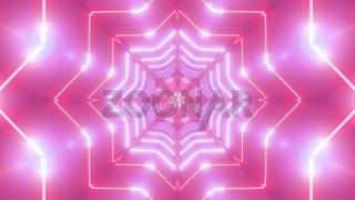 Star shaped abstract kalaidoscope mamdala 3d illustration background wallpaper