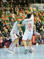 Swedish handball player Albin Lagergren SC Magdeburg LiquiMoly HBL Handballbundesliga season 2019-20