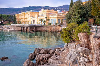Town of Opatija waterfront architecture and nature view