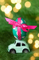 Little car with easter egg