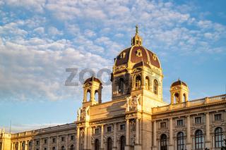 Ancient building of Museum of Fine Arts in Vienna, Austria.