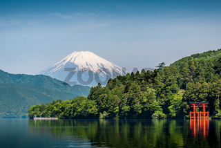 Lake Ashi and Mount Fuji