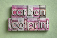 carbon footprint word abstract