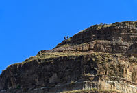 Tourists ascending the Kokor peak, Tigray, Ethiopia