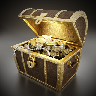 Treasure chest full of treasures