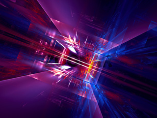 Abstract blue and purple technology background - digitally generated 3d illustration