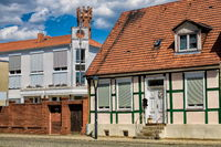 kyritz, germany - 03.06.2020 - old and new buildings