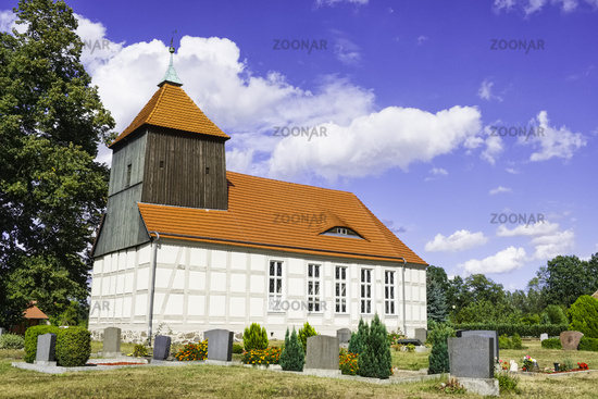 Village church Schoenberg (Mark), Brandenburg, Germany