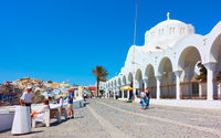 Promenade and Metropolitan Cathedral in Fira