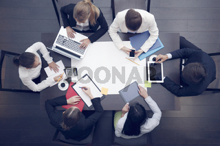 Business workplace with people