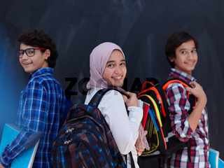 Arab teenagers group