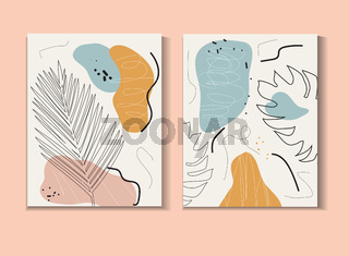 Abstract poster in modern hipster style. Vector illustration