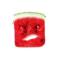 Angry watermelon character