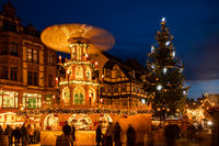 Christmas Market Quedlinburg Harz Evening mood
