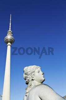Fernsehturn am Alexanderplatz in Berlin