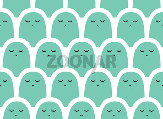 Colorful vector simple pattern . Crowd