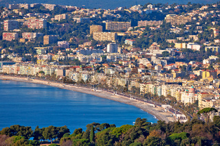 City of Nice Promenade des Anglais waterfront aerial view, French riviera