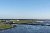 Wadden Sea and beach in Dorum-Neufeld