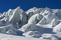 Towers of glacial ice