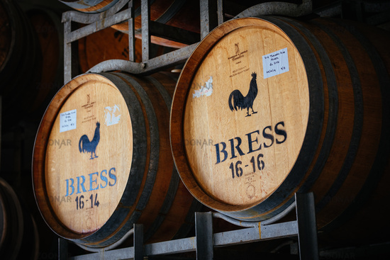 Wine Barrels in Storage in Victoria Australia