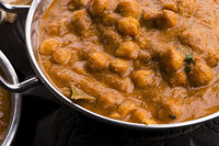 Chana Masala: Traditional Indian dish with chickpeas and curry