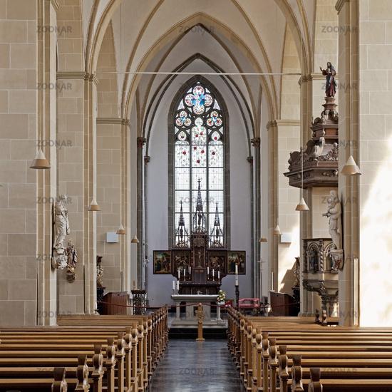 Abbey church of Kamp monastery, inside view, Kamp Lintfort, Lower Rhine, Ruhr area, Germamy, Europe