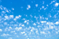 blue sky with lots of small clouds