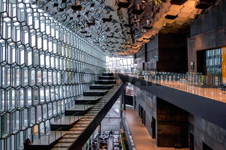 Interior View of the Harpa Concert Hall in Reykjavik