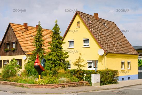 Traditional German village architecture