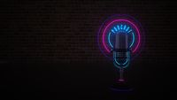 Microphone Neon Sign Podcast