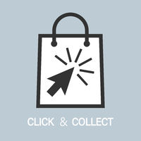 buy online and pick up in store, click and collect concept