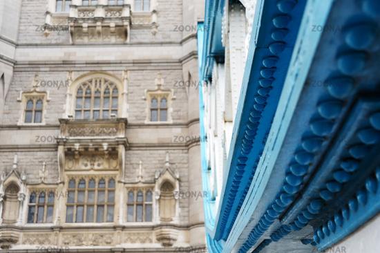 Tower Bridge in London Detail