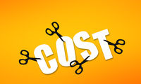 Use scissors to cut away cost word