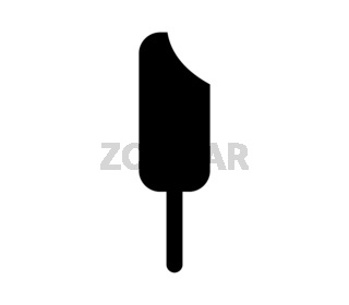 ice cream icon in vector on white background