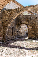 Ruined arcades of the Thonoret Abbey in the Var in France