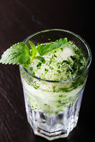 Mojito cocktail on a dark