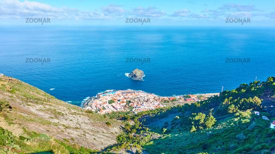 Panoramic view of coast of Tenerife with Garachico