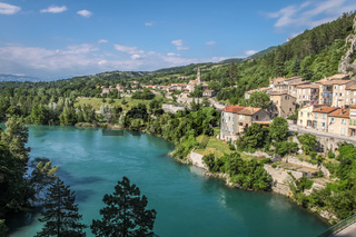 The village of Sisteron in southern France