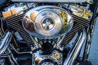 Motorcycle engine in high gloss