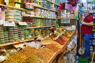 Jerusalem Israel. Selling spices in the old city