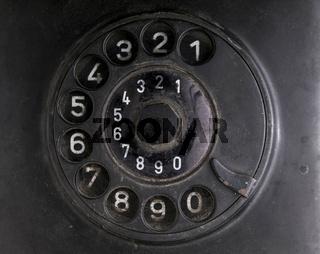 Wählscheibe eines alten Telefons