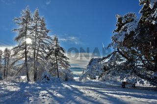 Winterlandschaft beim Raichberg, Schwäbische Alb, Deutschland
