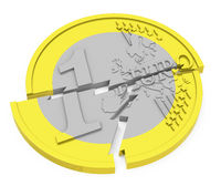 the broken euro coin