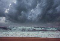 Storm weather on sea