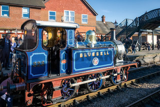 Bluebell Steam Train at Sheffield Park Station