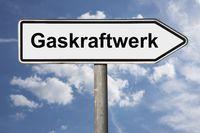 Wegweiser Gaskraftwerk | signpost Gaskraftwerk (Gas power station)