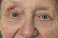 Portrait of a senior caucasian woman eyes