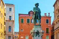 Monument in honour of Carlo Goldoni in Venice
